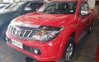 Red Mitsubishi Strada 2015 Manual Diesel for sale in Quezon City