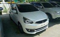 White Mitsubishi Mirage 2018 Automatic Gasoline for sale in Cebu City