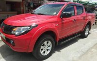 Red Mitsubishi Strada 2015 Manual Diesel for sale