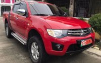 Red Mitsubishi Strada 2014 Automatic Diesel for sale