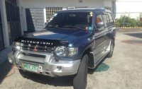 Blue Mitsubishi Pajero 1999 Automatic Gasoline for sale