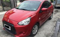 Selling Red Mitsubishi Mirage 2015 Automatic Gasoline