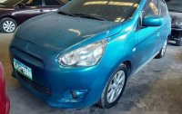 Sell Blue 2014 Mitsubishi Mirage at 64000 km