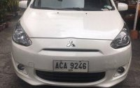 Selling White Mitsubishi Mirage 2014 Automatic Gasoline