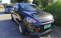 Grey Mitsubishi Mirage 2013 Manual Gasoline for sale