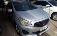 Silver Mitsubishi Mirage g4 2014 Automatic Gasoline for sale