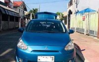 Selling Blue Mitsubishi Mirage 2014 Manual Gasoline at 66500 km
