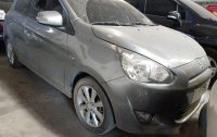 Selling Grey Mitsubishi Mirage 2015 in Quezon City