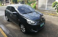 Selling Grey Mitsubishi Mirage 2013 in Quezon City