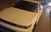 White Mitsubishi Lancer 1992 Manual Gasoline for sale