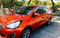 Orange Mitsubishi Mirage 2018 for sale in Cebu City