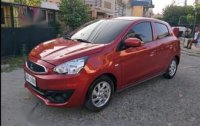 Red Mitsubishi Mirage 2017 for sale in Manual