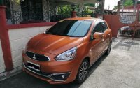 Orange Mitsubishi Mirage 2017 for sale in Marikina