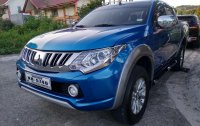 Sell Blue 2015 Mitsubishi Strada Truck at 31000 in Manila