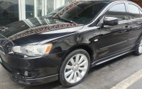 Black Mitsubishi Lancer 2008 for sale in Quezon City