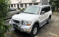 Selling White Mitsubishi Pajero 1999 SUV in Quezon City