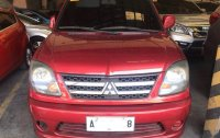 Red Mitsubishi Adventure 2015 for sale in Manual