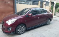 Purple Mitsubishi Mirage 2017 Hatchback at 7000 km for sale in Manila