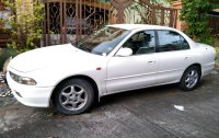 Pearl White Mitsubishi Galant 1997 for sale in Las Piñas