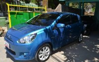 Selling Blue Mitsubishi Mirage 2015 in Subic