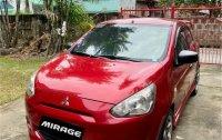 Selling Red Mitsubishi Mirage 2013 in Binangonan