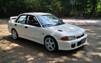 Selling White Mitsubishi Lancer Evolution III 1994 in Muntinlupa