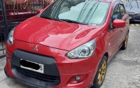 Red Mitsubishi Mirage 2014 for sale in Quezon