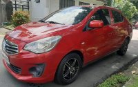 Red Mitsubishi Mirage G4 2015 for sale in Quezon