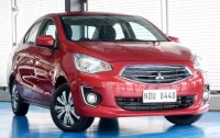 Selling Red Mitsubishi Mirage 2016 in Quezon City