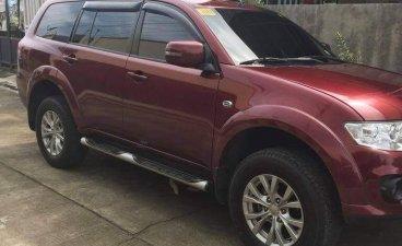 Red Mitsubishi Montero 2014 for sale in Quezon City
