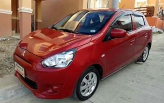 Red Mitsubishi Mirage 2015 for sale in Davao City
