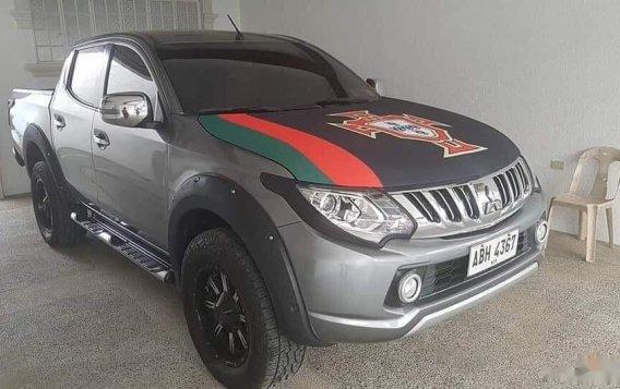 Black Mitsubishi Strada 2015 Truck at Automatic for sale in Malabon