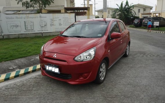 Red Mitsubishi Mirage 2015 for sale in Bacoor