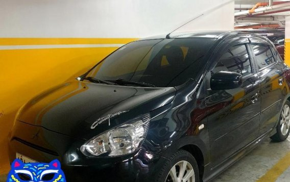 Selling Black Mitsubishi Mirage 2014 in Mandaluyong