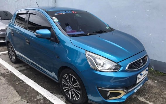 Selling Blue Mitsubishi Mirage 2017 in Santo Tomas