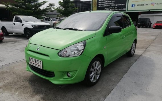 Green Mitsubishi Mirage 2013 for sale in San Fernando
